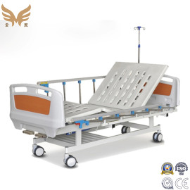 Cheap Adjustable Hospital Electric Medical Patient Clinic Care ICU Bed with Foldable Side Rail