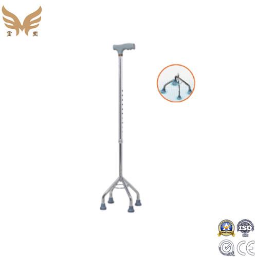 Aluminium Quad Cane Walking Stick Aids Height Adjustable