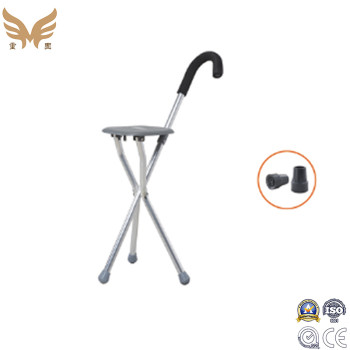 Three Legs Walking Stick Canes for Eldery, Folding Walking Stick Seat Crutch Stool