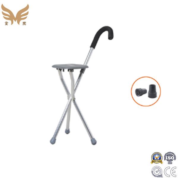 Three Legs Walking Stick Canes for Eldery, Folding Walking Stick Seat Crutch Stool