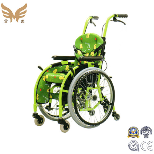 Medical Health Device Aluminum Lightweight Folding Pediatric Children Manual Wheelchair for Children