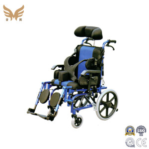 New Medical Equipment Aluminum Adapting Adjustable Reclining Manual Children Wheelchair