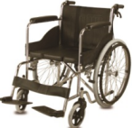 Leather armrest hand push Manual Wheelchair