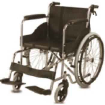 Leather armrest hand push Manual Wheelchair