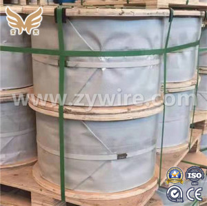 7*7 GI steel wire rope in coils for  typing and binding-Zhongyou