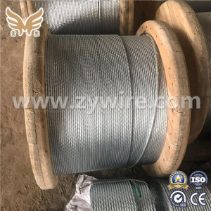 Guy Wire Messenger Wire 1*7 Galvanized Steel Strand-Zhongyou