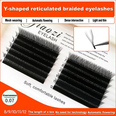 Y-shaped eyelashes
