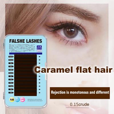 Caramel flat hair