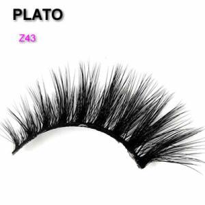 wholesale 3d faux mink eyelashes synthetic fiber strip eyelashes ,private label false silk eyelash, premium fake silk lashes