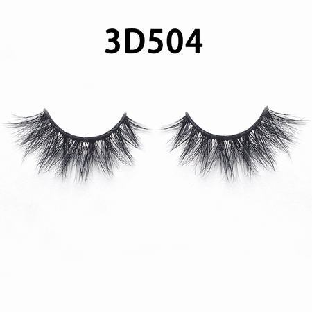 wholesale 100% real siberian mink fur mink eyelashes 3d mink lashes With Custom Lash Book