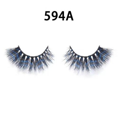 Colored Mink Hair Eyelashes 594A