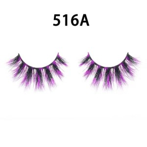 Color silk lashes Synthic Hair Faux 3D Mink Eyelashes lash vendor Wholesale Colorful Eyelashes Private Label
