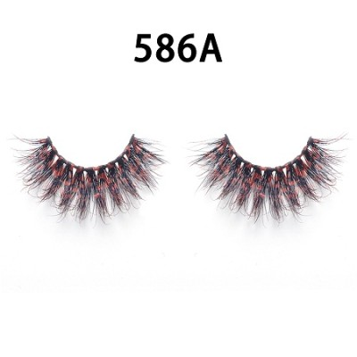 Colored Mink Hair Eyelashes 586A