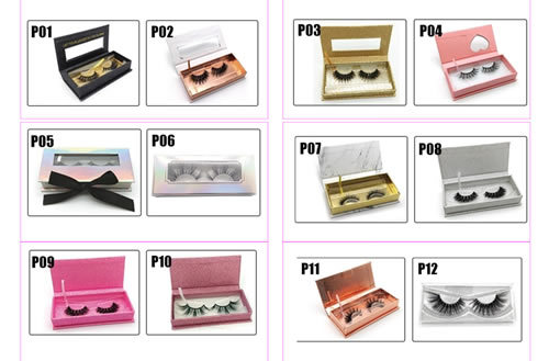 private label 3d mink lashes creat own brand empty eyelash packaging