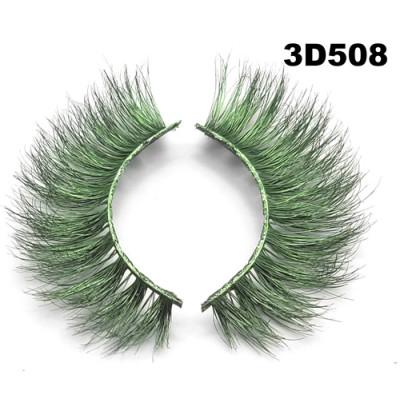 Colored Mink Eyelashes 3D508