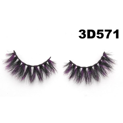Colored Mink Eyelashes 3D571