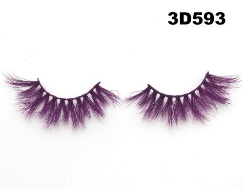 Color silk lashes Synthic Hair Faux 3D Mink Eyelashes lash vendor Wholesale Colorful Eyelashes Private Label