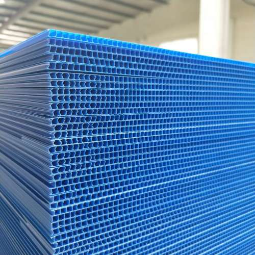 Corrugated PP construction protection sheet
