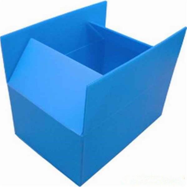 Foldable Coroplast storage box corrugated plastic turnover box
