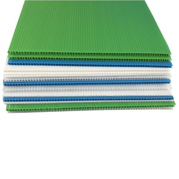 Flexible die cut 2mm 3mm 4mm 5mm PP corfluted protective danpla sheet
