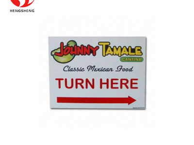 Corrugated plastic hollow sheet correx advertising card die cut yard signs from China factory