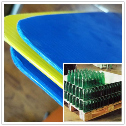 Plastic bottle divider corflute layer pad with round corner