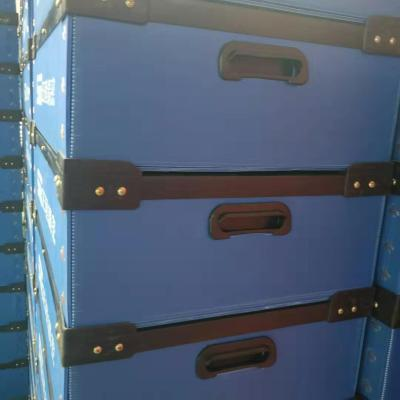 pp plastic foldable turnover box for electronic parts