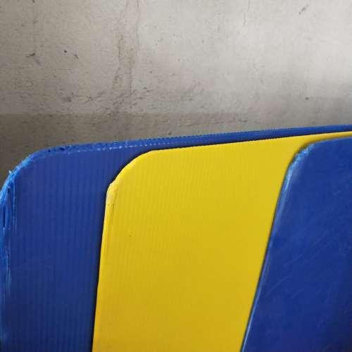 Round corner corflute plastic hollow layer pads