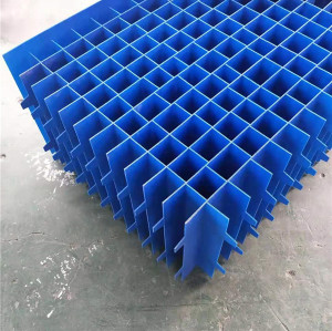 Polypropylene corrugated H hole plastic sheet