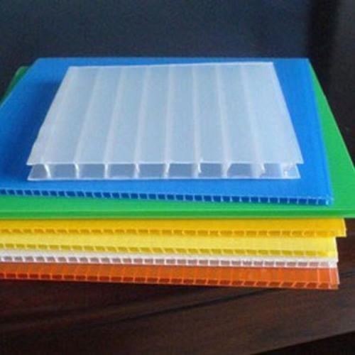Corrugated PP Plastic poster board Fluted Polypropylene Hollow Boards For Floor Covering