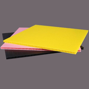 Customized antistatic pp corrugated plates/sheet advertising pack material plastic board
