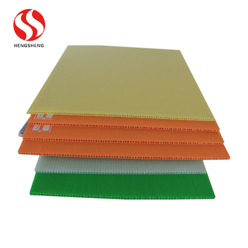 Plastic Colorful corrugated advertising signs hollow board