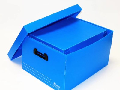 Foldable office document storage box