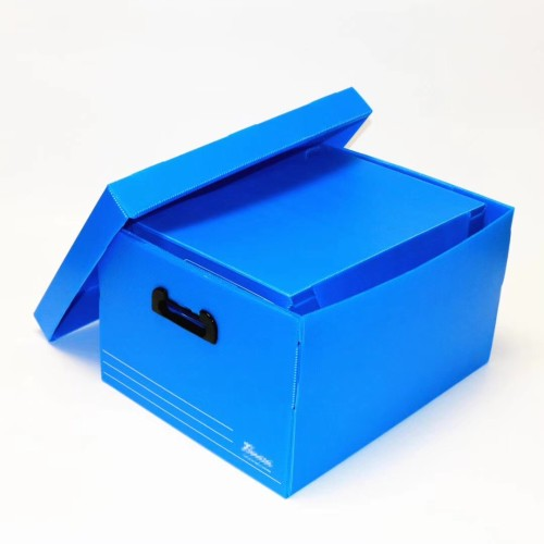 Folding PP corrugated storage box danpla boxes