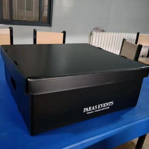 Plastic collapsible recyclable corrugated packing box