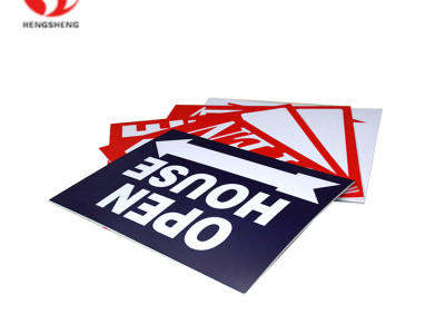 China manufacturer of pp corrugated sign board