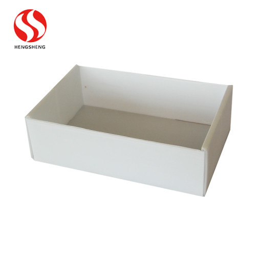 White color folding corrugated packing box