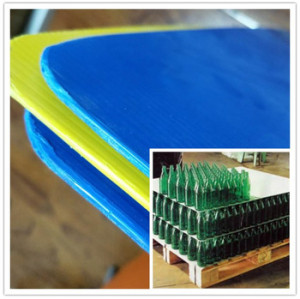 Corrugated PP Sheets Big Plastic Corflute Sheet Fluted Board PP Layer Pad Corex For Wholesales