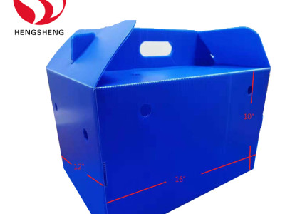 Stackable fruit packing box China pp correx box manufacturer Qingdao Hengsheng Plastic