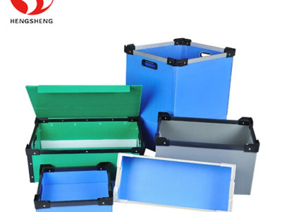 heavy duty spares parts packing boxes China manufacturer pp plastic storage bins for metal parts