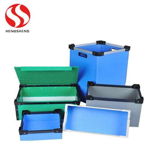 Anti static pp plastic correx sheet corflute baord with folding boxes for turnover and recycle shipping