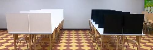 Dining Hall Table partition Antivirus isolation board