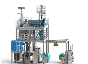 خط إنتاج محبوكة سبونبوند لشعاع واحد