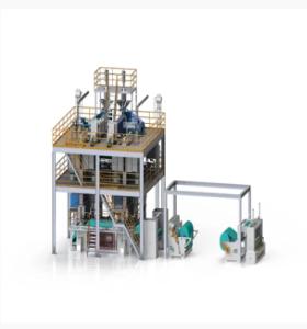 خط إنتاج محبوكة سبونبوند لشعاع مزدوج