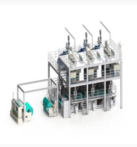 خط إنتاج محبوكة سبونبوند لثلاثة شعاع