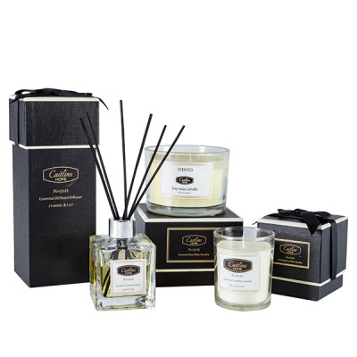 Reed diffuser with natural sticks for gift set