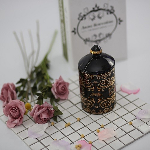 New Luxury Home decoration 100% natural soy wax with ceramic candle jars scented candles wholesale