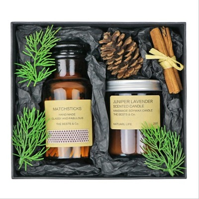 Wholesale luxury retro aroma candle scented candle jar exquisite gift set