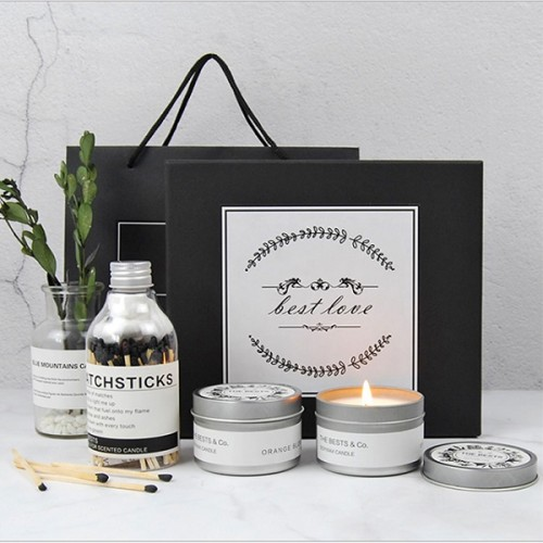 Wholesale luxury round container metal tin candle jar with lid