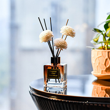 Natural aroma Reed Sticks Decorative luxury Glass Bottle fragrance reed diffuser set box